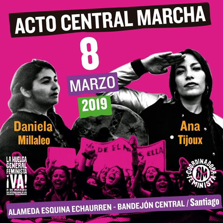Organizing flyer for March 8 feminist strike.